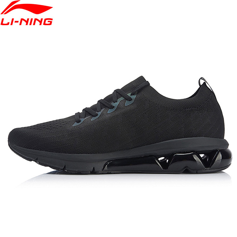 Li Ning Men BUBBLE ARC Cushion Running Shoes Reflective Mono Yarn Breathable LiNing Sport Shoes Sneakers ARHN049 XYP753