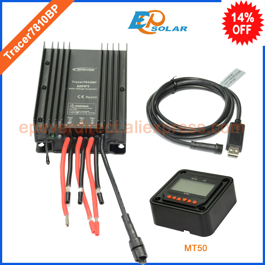 controller tracer7810BP from EPsolar factory direct supply high quality solar regulator MT50 remote meter+USB PC cable 30A epsolar solar regulator 30a 12v 24v with remote meter mt50 solar charge controller 50v ls3024b