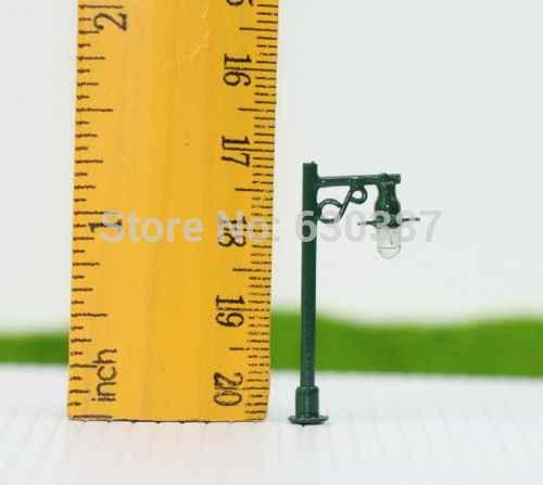 L330N 10 sztuk Model Railway latarni u nas państwo lampy światła uliczne jedna żarówka w skali N 12 V nowy