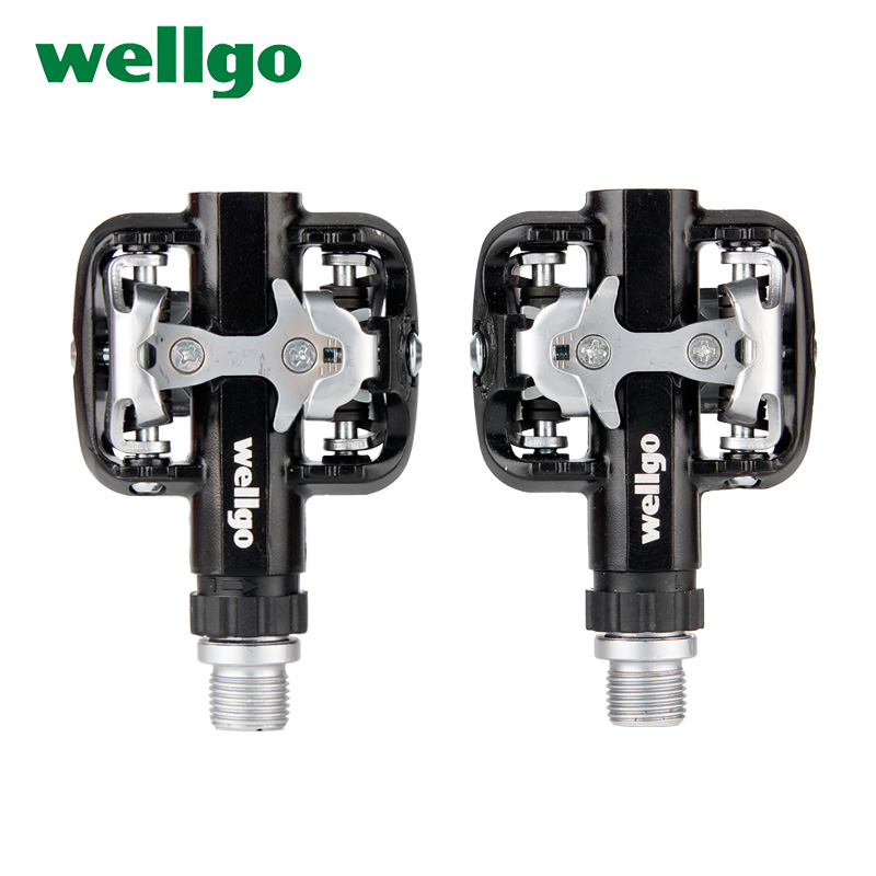 Wellgo MTB Bicycle Pedals Ultralight Bike Bicycle Pedals Mountain Road Bike Pedal Folding Cycling Bicycle Foot Pegs Pedals mtb wellgo wm001 mtb mountain bike clipless pedals cycling aluminum alloy high quality road bicycle pedal