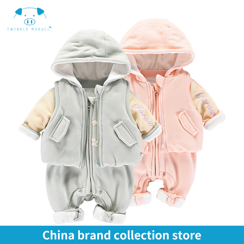 winter rompers newborn boy girl clothes set style baby fashion baby brand products infant clothing set clothing bebe MD170D033 siyubebe winter baby rompers fashion brand cotton fleece ropa bebe infant girl jumpsuit kids clothing newborn baby boy clothing