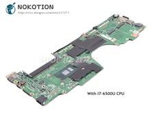 NOKOTION для lenovo ThinkPad yoga 260 материнской платы ноутбука 12,5 дюймов SR2EZ I7-6500U Процессор DDR4 AIZS1 LA-C581P основная плата