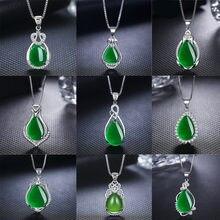 Новинка 2020 модный красный зеленый камень кулон ожерелье сердце