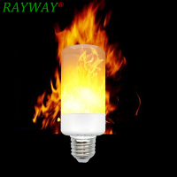 RAYWAY E14 E27 2835 SMD 6W 3 modes LED Flame Effect Fire Light Bulbs Flickering Emulation Decorative Lamp For Christmas