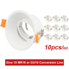 Recessed Downlight Kit Spot Light Fitting GU10 MR16 Socket Round Fixture ceiling spot light Adjustable Frame dia 50mm LED Bulbs(China)