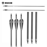 6 12 24 Pcs Pure Carbon Arrow Length 30 Inches Diameter 7 6mm Spine 340 2