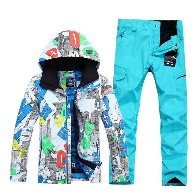 0a0540657150b4 GSOU ŚNIEGU mężczyźni kurtka narciarska mężczyźni kombinezon narciarski + spodnie  kurtka snowboardowa mężczyzn zimowe męskie kurtki