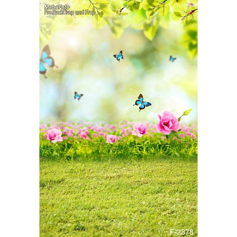 5X7ft photography backdrops beautiful spring scenery background computer printed newborns backdrops for photo studio F-2878