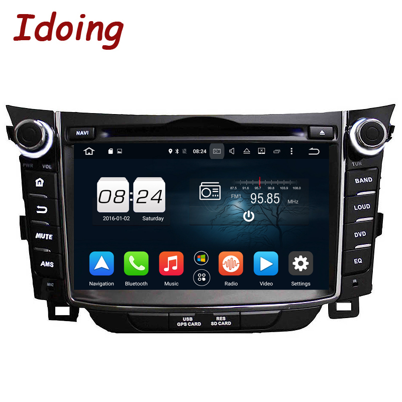 Idoing 2Din 7 Android6 0 2G 32G Steering Wheel Fit Hyundai I30 Car Multimedia Player GPS