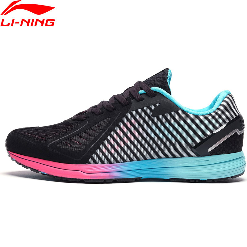 (Break Code)Li-Ning Women MID RACING SHOES Professional Marathon Running Shoes LiNing Li Ning Sport Sneakers ARBN216 XYP854