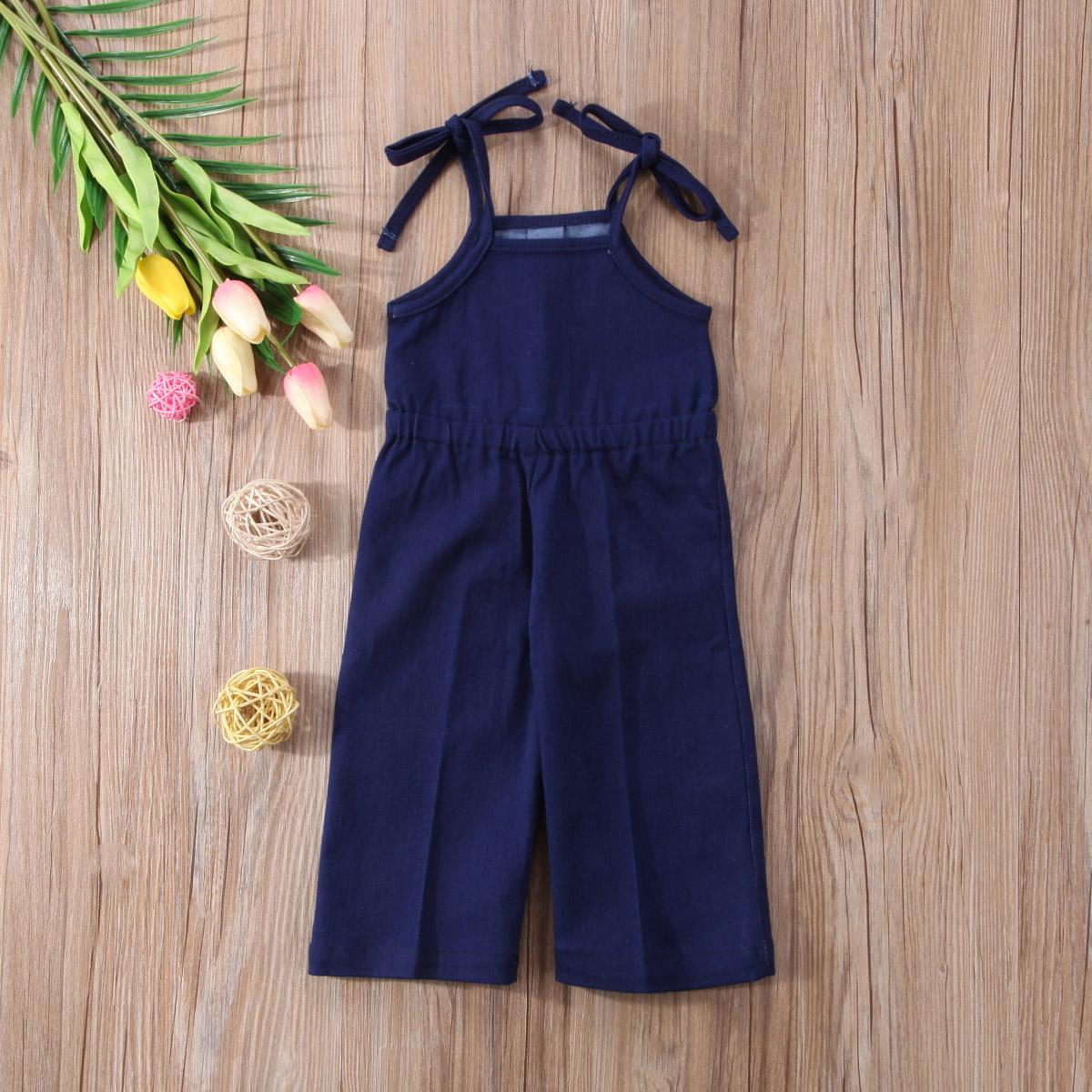 4cfff054579 Fashion Newborn Baby Girls Kids Denim Loose Pants Strap Sleeveless ...