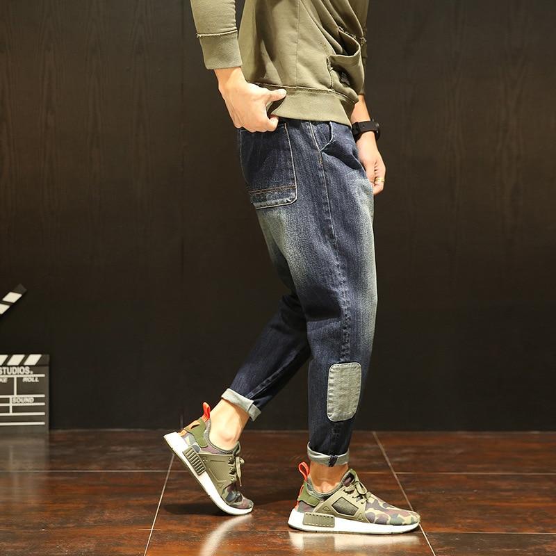 Fashion Brand Mens loose   jean   Harem warm   jeans   Loose for Men Unique Hip Hop Clothing Quality Outwear 2017 New Autumn Winter