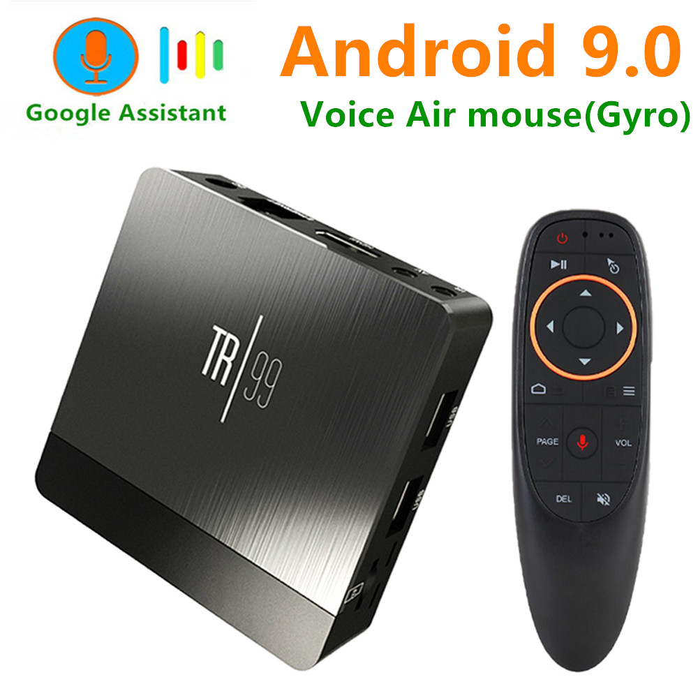 Transpeed TR99 X2 Android 9.0 Smart TV BOX Google Voice Assistant Amlogic S905X2 4GB 64GB fast Wifi Bluetooth 4K 3D top box IPTV-in Set-top Boxes from Consumer Electronics