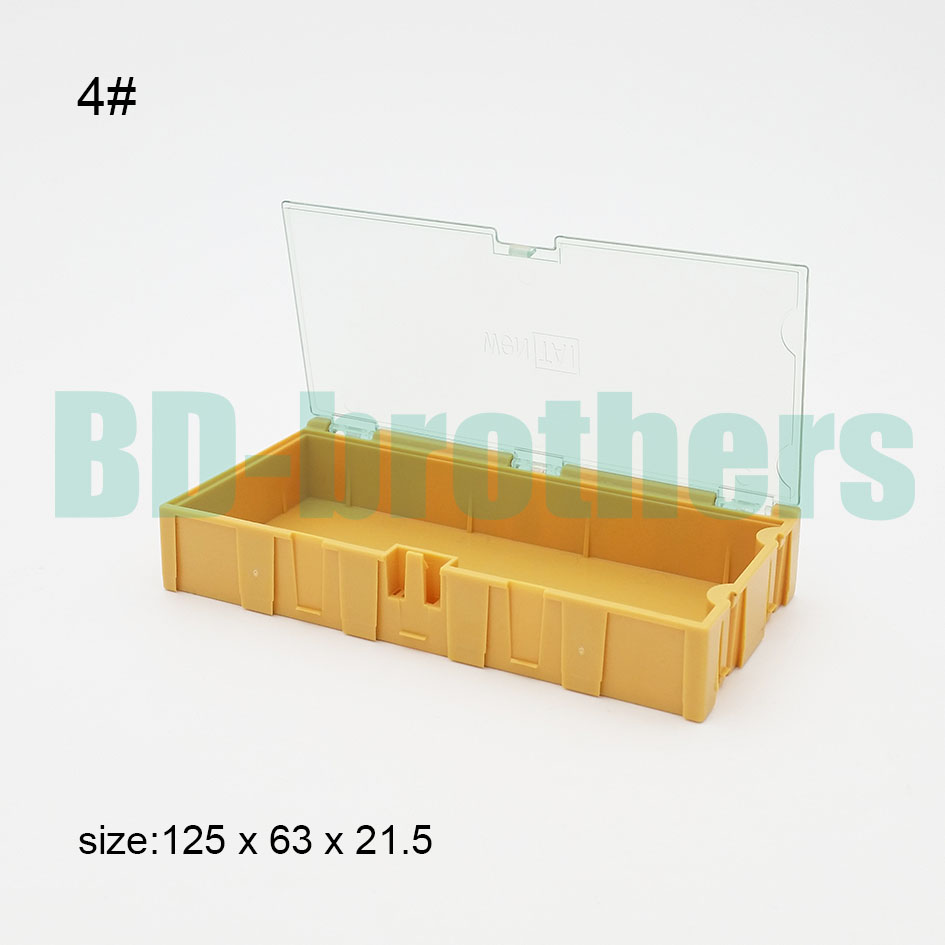 Original 4 Yellow Component storage box Square IC Components Boxes SMT SMD Wentai Boxes Combination Tool