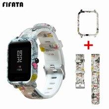 FIFATA Strap Für Amazfit Bip Uhr Band Für Xiaomi Huami Amazfit Bip Bit Jugend Lite Fall Abdeckung + Silikon Armband zubehör