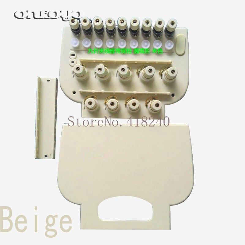 Computer Stickerei Maschine Teile 9 Nadel Neun Arc Draht Spann Sitz Mit Bottom überprüfen Montage Kopf Alarm Box