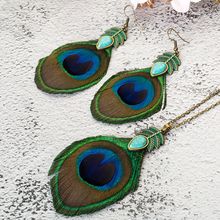 Gifts for Women Shell Necklace Tassel Peacock Feather Necklace