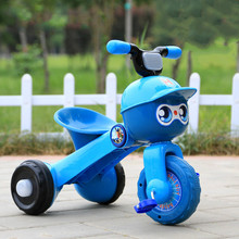 Мультяшный детский трехколесный велосипед, детский велосипед, игрушечная тележка, складные музыкальные огни, ходунки для малышей, игрушечный автомобиль, От 1 до 6 лет