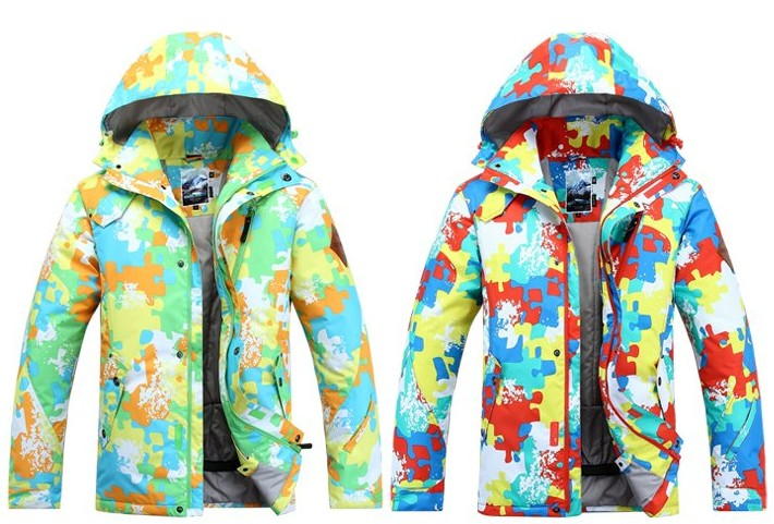 2015 mens Ski jacket multicolour Camouflage skiing jackets ski coat winter thick anorak waterproof 10K windproof breathable S-XL ski go мазь держания ski go lf