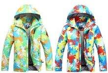 2015 mens Ski jacket multicolour Camouflage skiing jackets ski coat winter thick anorak waterproof 10K windproof