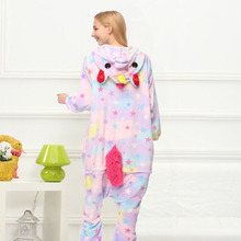 Star Unicorn Kigurumi Onesie Costume Jumpsuit Soft Fancy Carnival Onepiece Animal Cosplay for Women Girl Adult Kid Home Wear