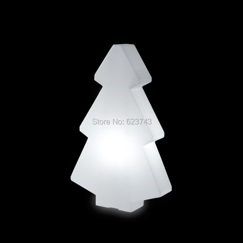 1 piece colorful changeable rechargeable LED light tree of led floor lamp Christmas decoration glowing light outdoor/indoor free shipping remote control colorful modern minimalist led pyramid light of decoration led night lamp for christmas gifts
