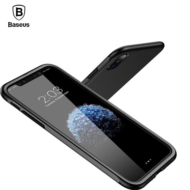 Baseus Bumper Case For iPhone X Case Luxury Soft TPU+TPE Sho