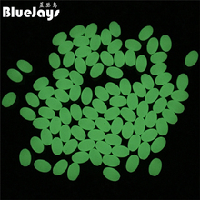 BlueJays 200pcs/lot Oval Hard Luminous Beads Pearl Fishing Lure Bait Accessoires Fishing Tackle Sea fishing tool free shipping