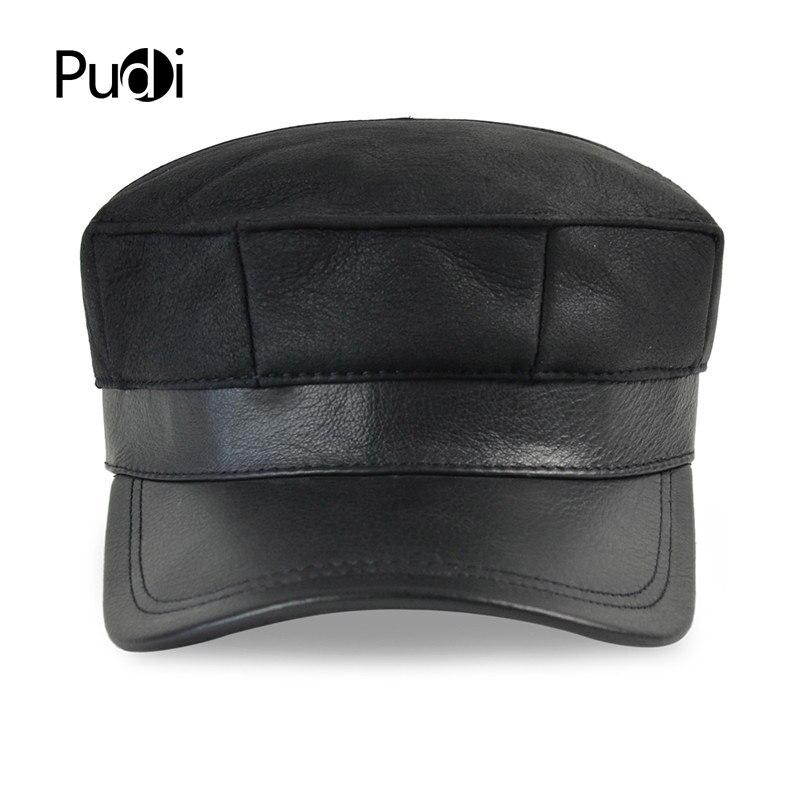 HL7115 real couro boné de beisebol chapéu morno do inverno Russo homens  velhos de um colar da pele do exército boina ear Flap caps chapéus com pele  real ... 511bd870c8d