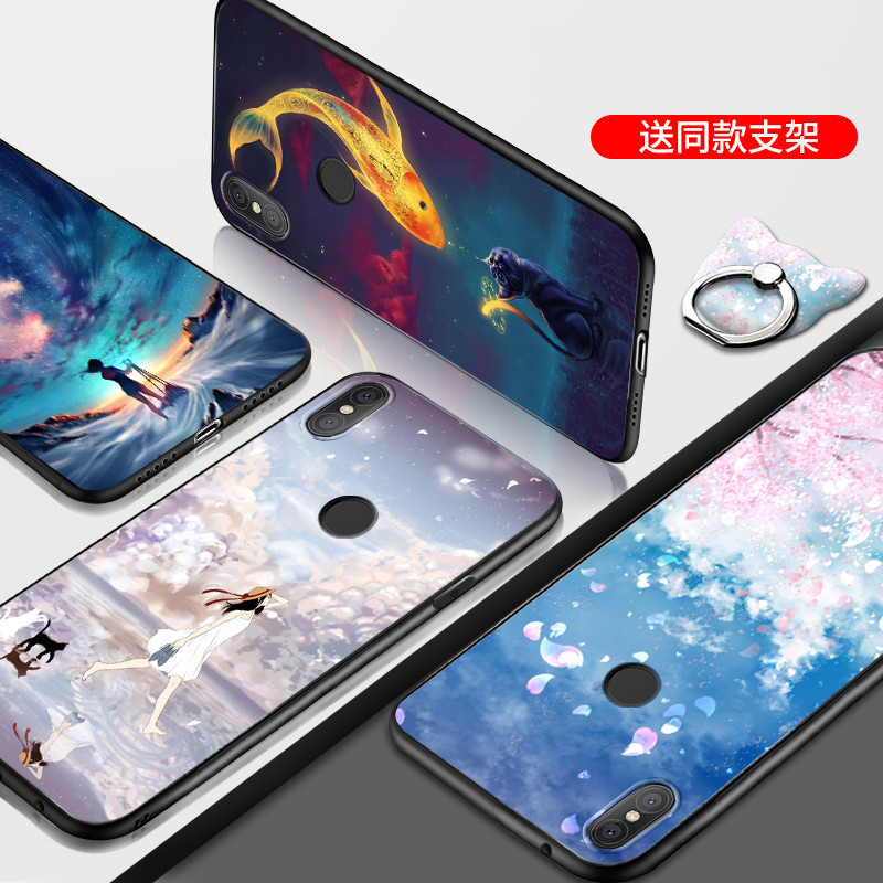Fundas For  Xiaomi Redmi Note 5 Pro Case cover Cartoon Painted Silicone TPU Cover Case For Xiaomi Redmi Note 5 Pro cases(China)