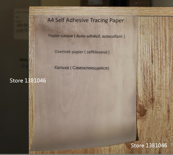 picture about Printable Wood Paper identified as A4 Self Adhesive Printable Tracing Paper Translucent Interest