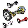 Hoverboard 10 Polegada scooter elétrico todo-terreno duas rodas auto-balanceamento hoverboard equilíbrio skate bluetooth + chave remota + saco