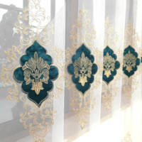 Slow Soul Gold Green Purple Blue Europe Embroidered Tulle Curtains For Living Room Kitchen 3d Bedroom Luxury velvet Cortinas|Curtains| |  -