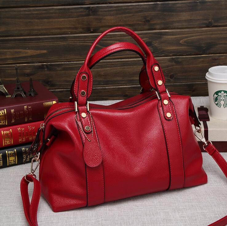 Nuove Donne Di Nuovo Borsa Femminile Tote 021317 Il blu Maniglie Moda Calde rosso Top Sacchetto grigio Nero IwpRxqdtq