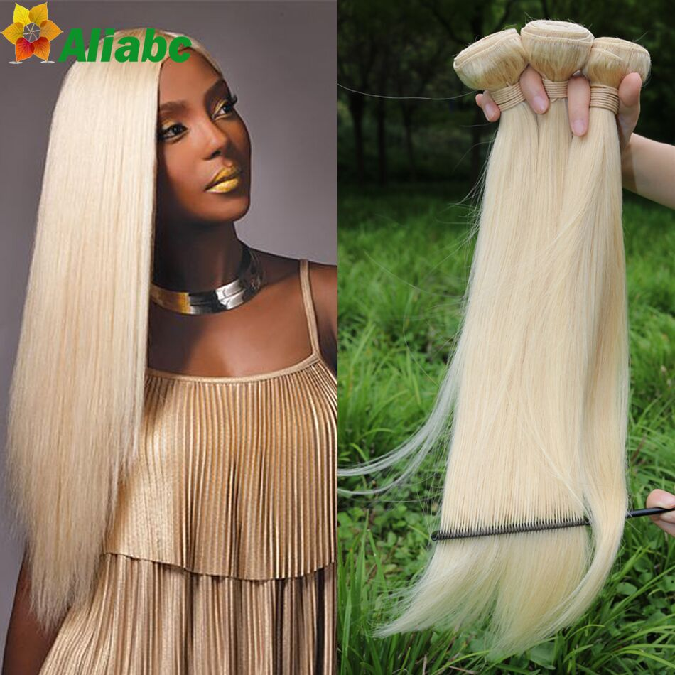 613 Blonde Virgin Hair Straight 34 Pcs Brazilian Virgin