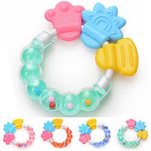 Infant Teething Circle Ring Chews Teething Baby silicone baby teether Kid Cute Baby Teether Toy