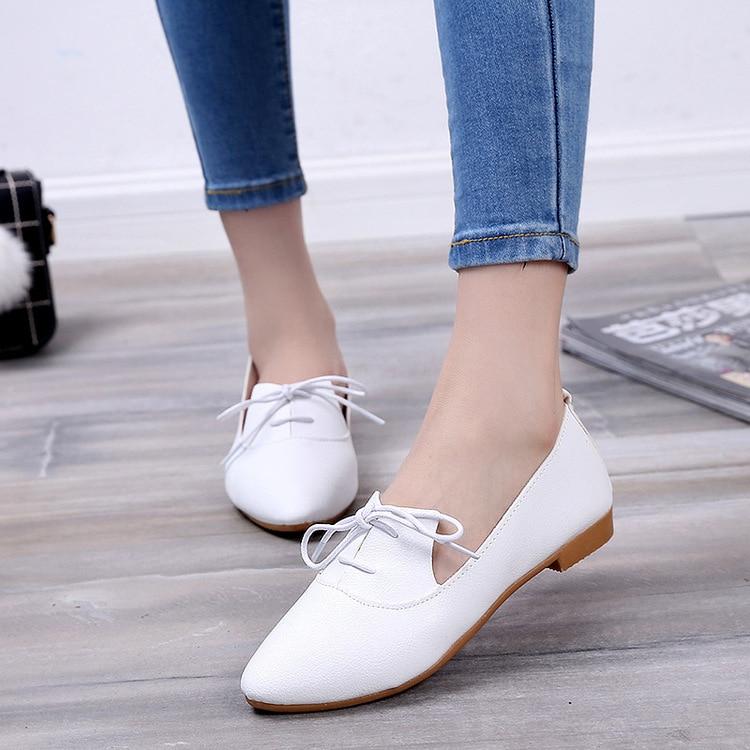 Beautiful Ladies Flat Shoes Casual Flat Shoes Women Low