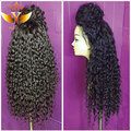High Ponytail Lace Front Wigs Synthetic 180 Density Kinky Curly Synthetic Lace Front Wig With Baby Hair Soft Hair Heat Resistant