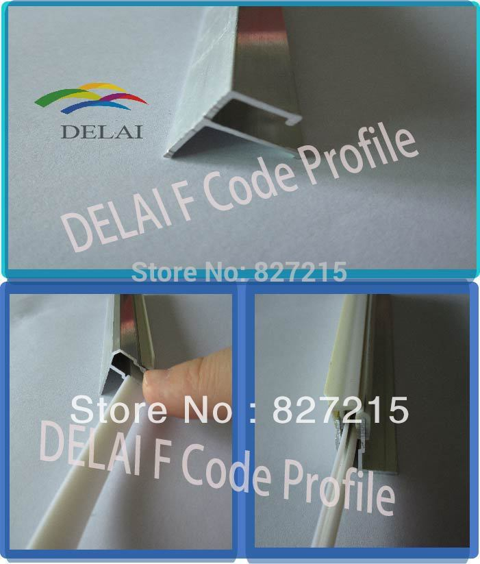 Construction material Aluminum Profile F Code for Stretch Ceilings