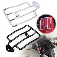 Black Chrome Motorbike Support Shelf For Harley Sportster XL883 1200 Luggage Carrier Motorcycle Raider Black Luggage