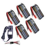 VHO Power Syma X8W RC Drone Lipo Battery 5pcs 2S 7 4v 2500mAh And UL Charger