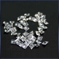 500pcs 3mm Square Manicure White Shiny Cubic Zirconia Stone Diamond Diamant Gems Nail Art Crystal Square