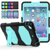 Shock Absorption Three Layer Armor Defender PC Silicone Full Body Kickstand Protective Cover Case For IPad