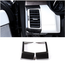 Carbon Fiber Style ABS Plastic Side AC Vent Frame Cover Trim For Land Rover Discovery 5 2018 Car Accessories