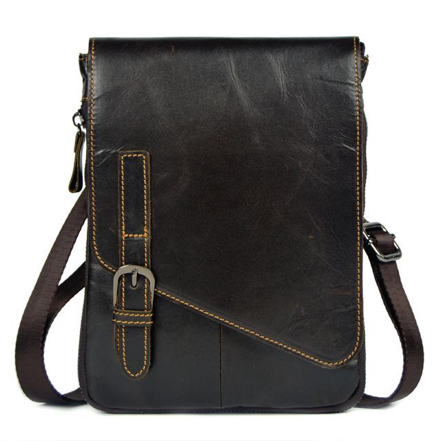 Couro genuíno pequenos sacos do mensageiro para homens pele de vaca bolsas de ombro cintura embalar novo estilo bolsas masculino ipad mini tablet PC sacos