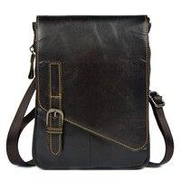 En cuir véritable petite messager sacs pour hommes peau de vache épaule sacs sac de taille nouveaux sacs à main de style hommes ipad mini tablet PC sacs