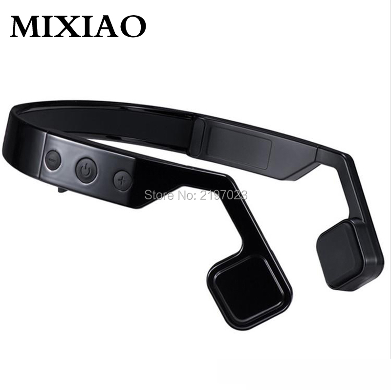 MIXIAO Bone Conduction Wireless Hearing Aids Ear Waterproof Music Mic Microphone Headphones Bluetooth 4.0 For Mobile Phone