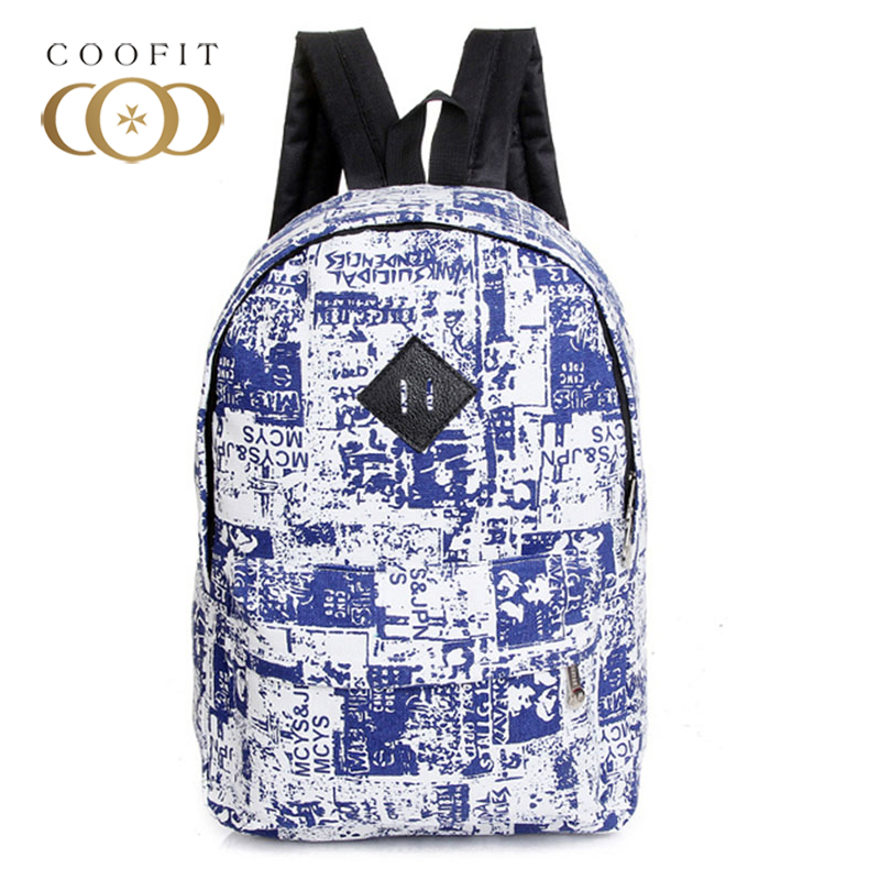 2018 Casual Graffiti Canvas School Bacgpack For Girls Student Useful Wearproof Large Capacity Backpack Bagpack Female Women Lady