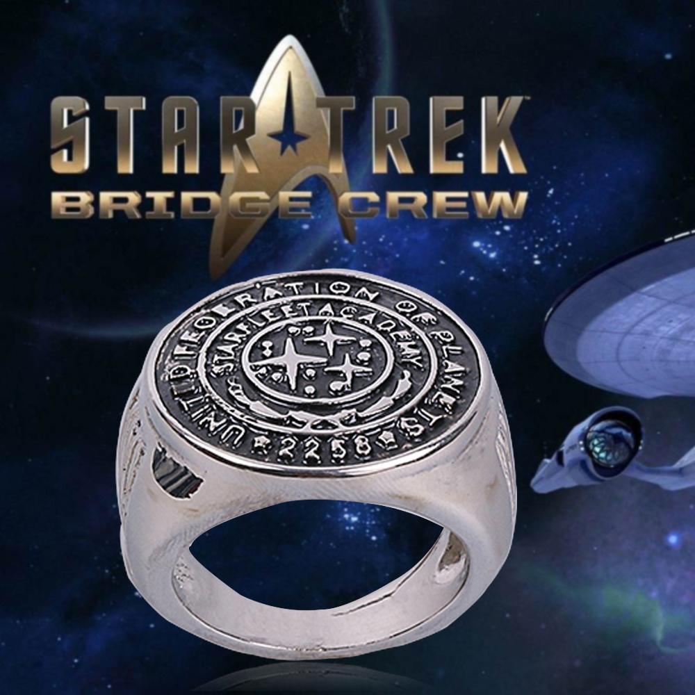 Star Trek Ring Star Trek Into Darkness Starfleet Academy Ring Accessories Cosplay Metal Rings Man Woman Ring Halloween Party