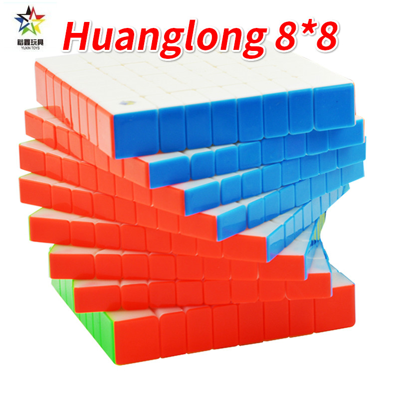 Yuxin Huanglong 8*8 couches Cube sans autocollant ou noir 8x8 Cube Zhisheng 8x8x8 Puzzle 8 couches jouets pour enfants